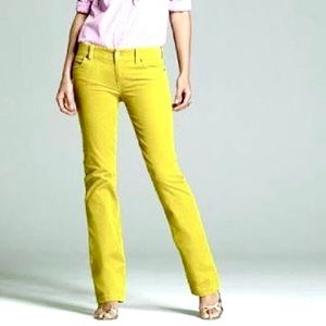 J.CREW Bright Yellow Corduroy straight Leg Pants